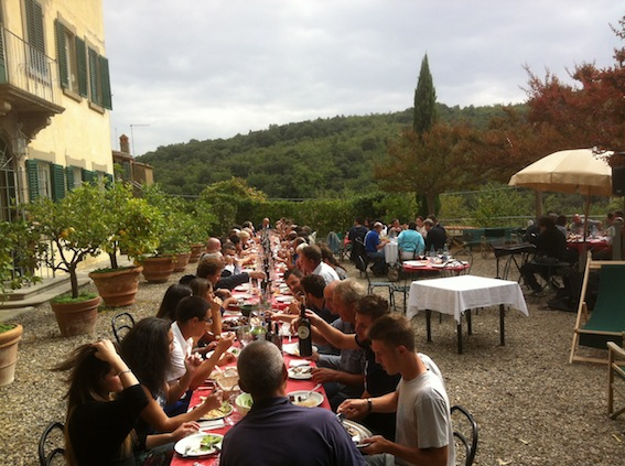 Petrolo wine harvest lunch