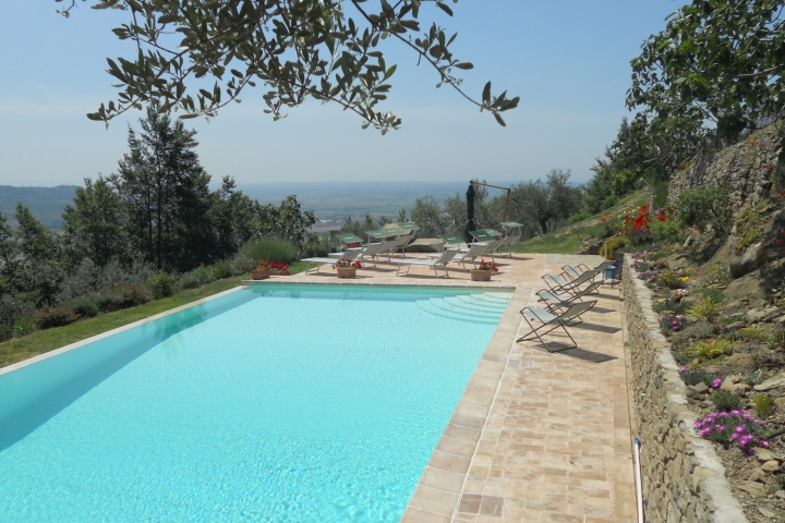 Casale in Cortona pool