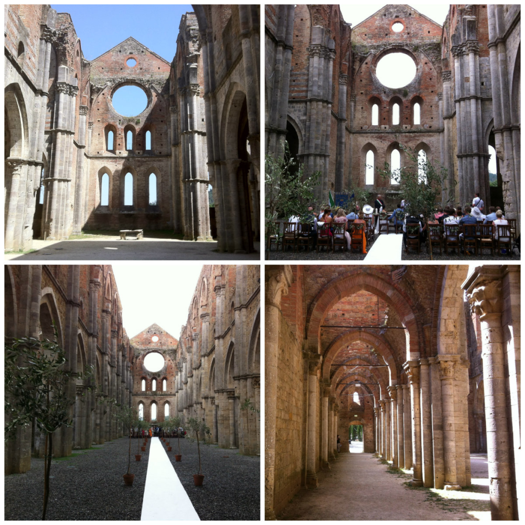 San Galgano Abbey roofless church in Tuscany